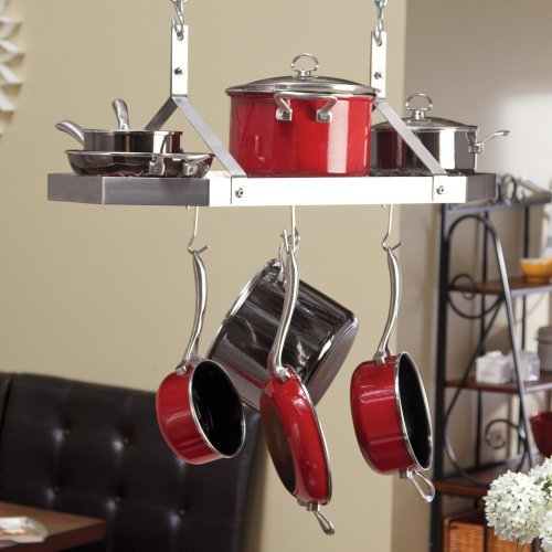 Contemporary Stainless Steel Octagonal Hanging Pot Rack by Product Cuisinart