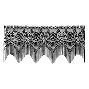 Heritage Lace Gothic Black Lace Halloween Gala 4 Way, Mantle Scarf, Lampshade Topper, Window 51v1MmQox8L