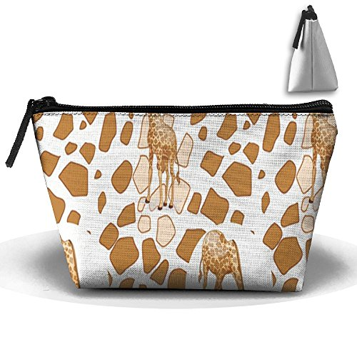 (JF-X Giraffe Debris Trapezoid Receive Bag Makeup Bag Home Office Travel Cases )