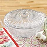 The Pioneer Woman 2.5 qt. round adeline glass casserole with lid
