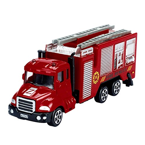 Boys Engineering Car Toy,Hemlock Children Fire Engine Car Truck Toys (Red)