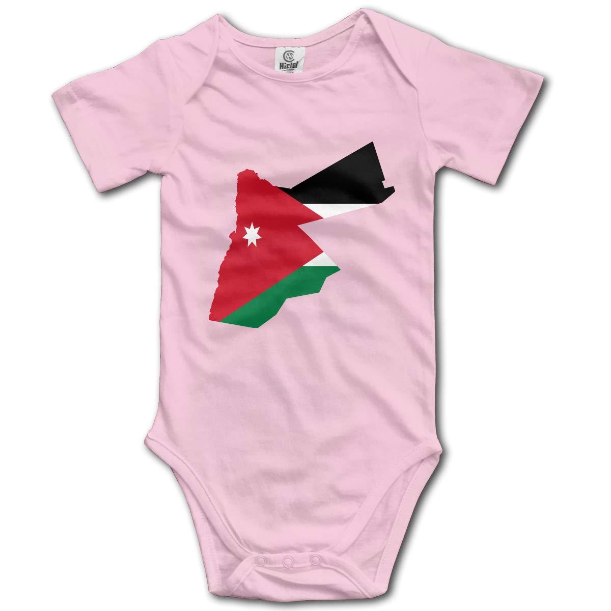CUTEDWARF Baby Short-Sleeve Onesies Jordan Flag Map Bodysuit Baby Outfits