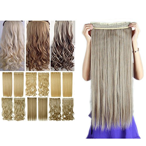 Divine Queen Costume (Sexybaby Clip in Hairpieces Extensions 140G High Synthetic Fiber 26 Inches Straight with 5 Clips (Ash Brown Mix Bleach Blonde))