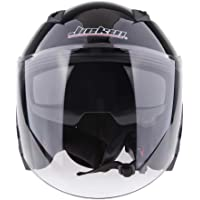 HOMYL Motorcycle Helmet 3/4 Open Face Helmet with Shield - Pick Size & Color - Glossy Black L