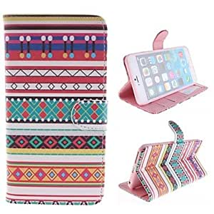 JAJAY National Wind Design PU Full Body Case with Stand with Card Slot for iPhone 6