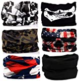 KALILY 6PCS Headband Bandana - Versatile Sports & Casual Headwear –Multifunctional Seamless Neck Gaiter, Headwrap, Balaclava, Helmet Liner, Face Mask for Camping, Running, Cycling, Fishing etc