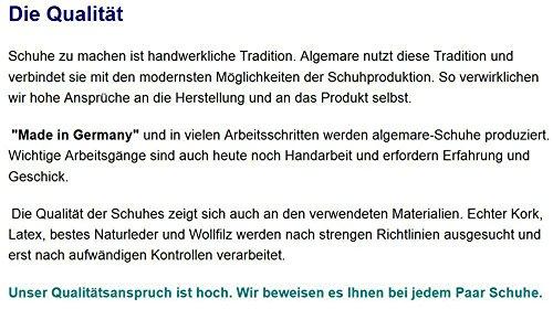 Algemare Herren Clog Veluret Sani-pur Wechselfußbett Herstellung in Deutschland 79902_3427 Hausschuh Pantoffel, Größe:45