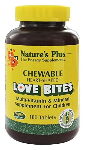 (Love Bites Multi-Vitamin & Mineral, Supplement For Children, 180 Chewable Tablets by Nature's Plus)