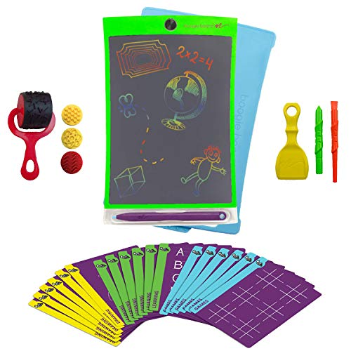 Boogie Board Magic Sketch Color LCD Writing Tablet + 4 Different Stylus and 18 Stencils for Drawing, Writing Tracing eWriter Ages 3+ (Magic Sketch Deluxe Kit)