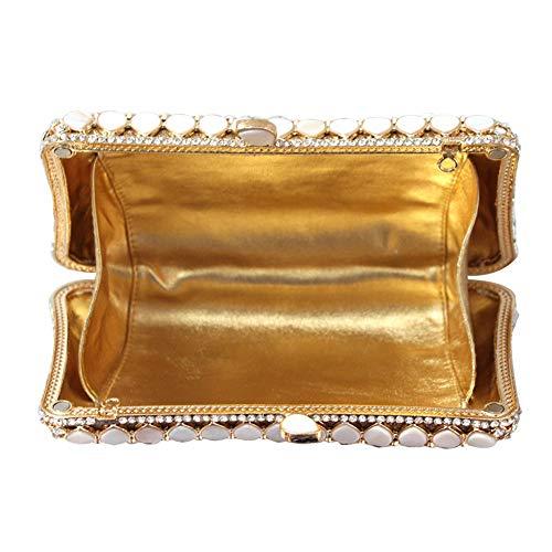 Embrayage Lovely Sac Luxe Main de élégant pour pour Mariage Pochette soirée à Les soirée Bal Strass rabbit Femmes vqrPgv