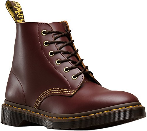 Classic 6 Eye Boot - Dr. Martens Men's 101 Arc Vintage Smooth 6-Eye Boots, Burgundy, 12 M UK, 13 M US