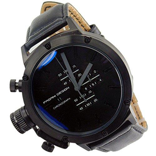 Pagani Design 50mm black dial quartz full chronograph datewindow men watch 2137