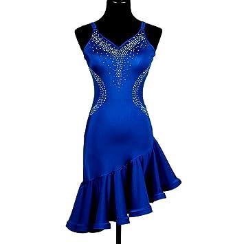 MoLiYanZi Honda Falda de Baile Latino para Mujeres Actuación ...