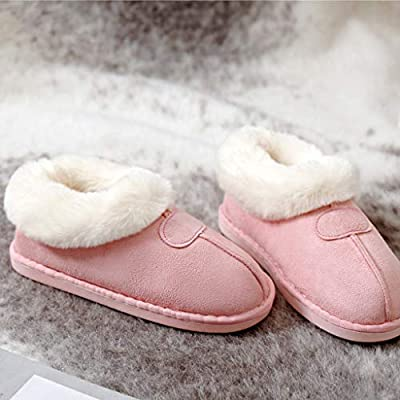 POPNINGKS 2020 New Couples Warm Slippers Fashion Slip On Shoes Comfortable Floor Home Slippers Indoor Shoes for Women and Men: Clothing