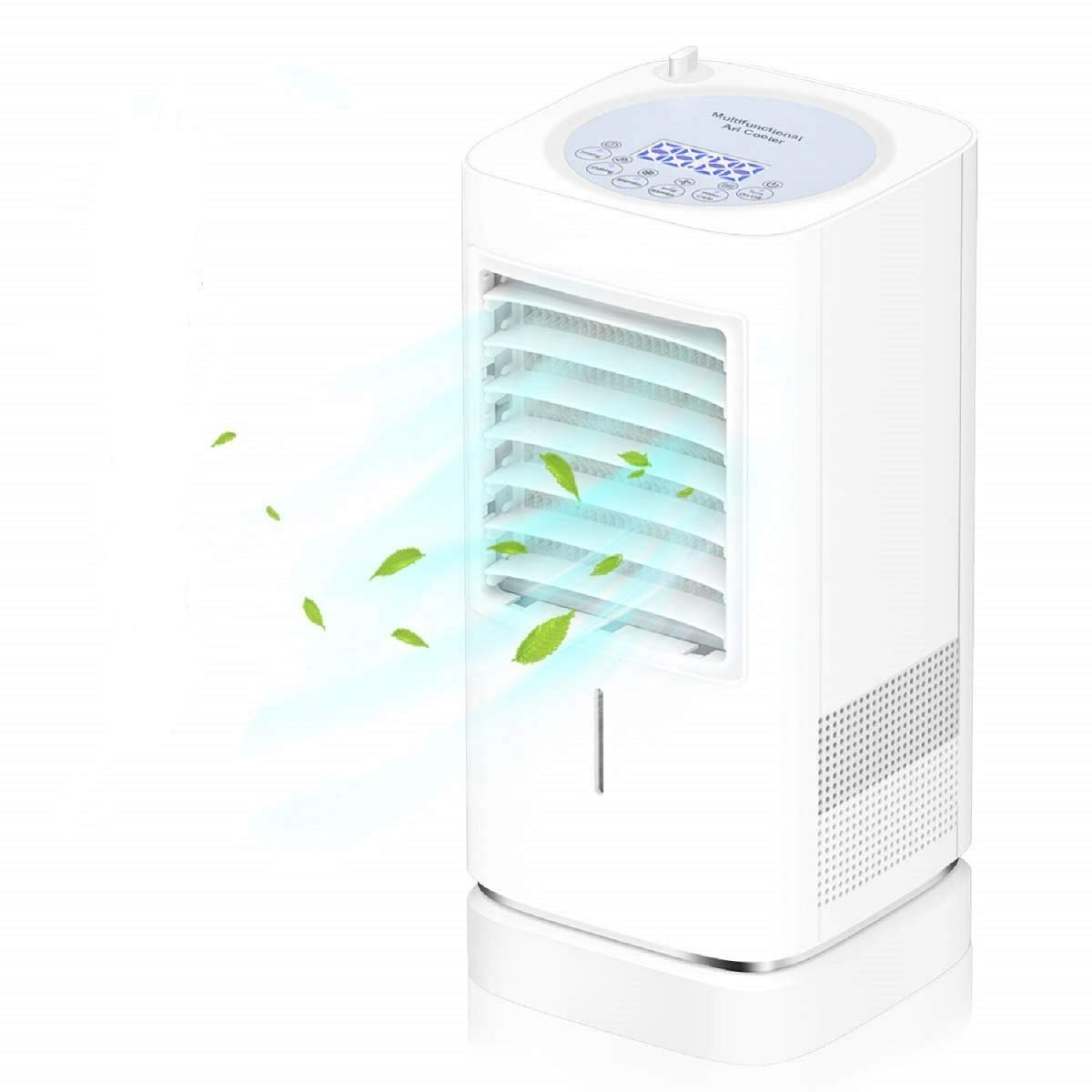 Portable Air Conditioner Fan, Mini Personal Evaporative Air Cooler Small Desktop Cooling Fan with Nightlight and Humidification Function, Super Quiet Personal Table Fan Mini Air Circulator Cooler