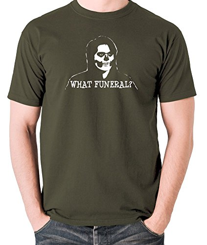 - The IT Crowd Inspired t Shirt - Richmond, What Funeral? Olive