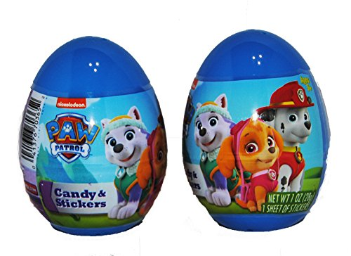 Prize Easter Eggs Filled with Candy and Stickers 2 Pack