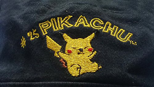 Original-Nintendo-Pokmon-Casquete-Gorra-Fischerhut-Nios-56-cm-100-Algodn-Pikachu-Bordado-Azul-Oscuro