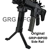 Military Law Enforcement Steel Inserted Leg Mil Spec Polymer Composite Grip+Bipod+side Rail, Outdoor Stuffs