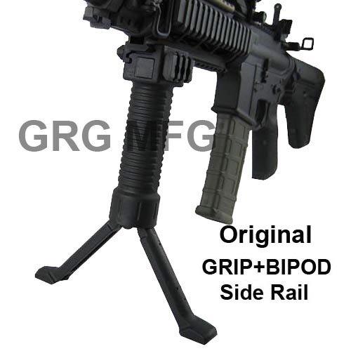 Military Law Enforcement Steel Inserted Leg Mil Spec Polymer Composite Grip+Bipod+side Rail, Outdoor Stuffs
