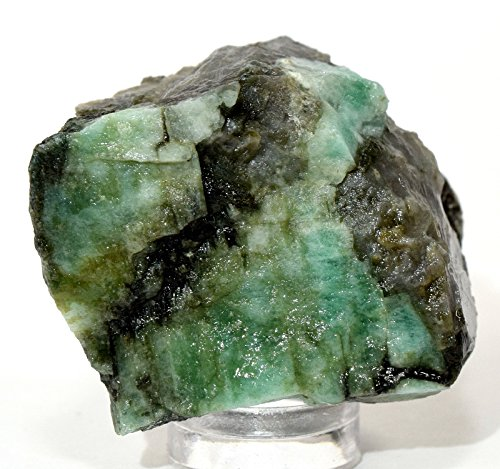 165ct 41mm Natural Green Emerald Rough in Matrix Crystal Gemstone Mineral Rock Cab for Cabbing/Carving - Brazil