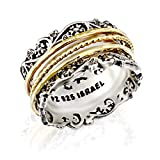 Paz Creations YG .925 Sterling Silver Ring with Gold Over Silver Spinners, Made in Israel (5)