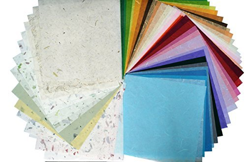 45 Sheets 12x12in Mulberry Paper Sheet Design Craft Hand Made Art Tissue Japan Origami Washi Wholesale Bulk Sale Unryu Suppliers Thailand Products Card -