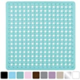 Gorilla Grip Original Bath Shower and Tub Mat (21x21) Machine Washable Antibacterial BPA Latex Phthalate Free Square Bathroom Mats with Drain Holes Suction Cups (Green)