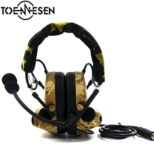 Element Airsoft Comtac II Style Tactical Headset Airsoft Paintball Hunting Earmuff with Military Standard Plug by TOENNESEN