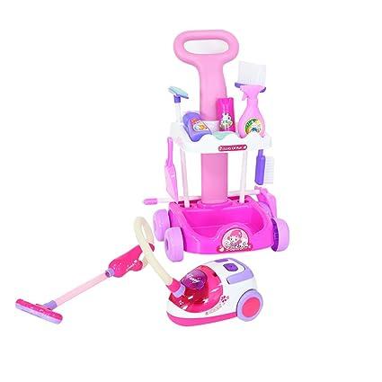 Amazon.com: livebest Rosa de plástico carrito de limpieza ...