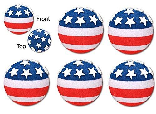 Tenna Tops 5 Pc American USA Patriotic Flag Car Antenna Topper - Antenna Ball - Rear View Mirror Dangler - Auto ()