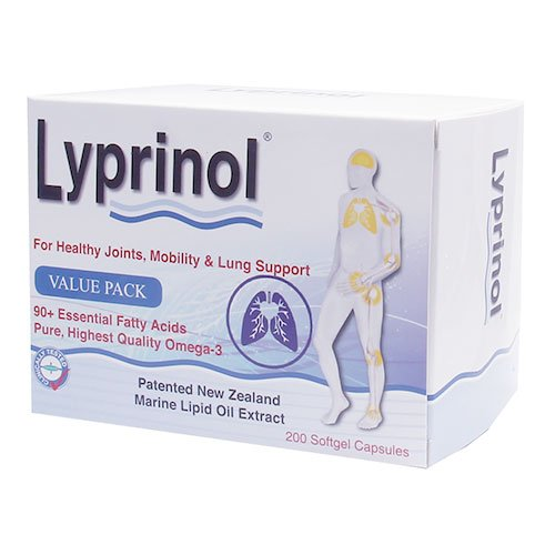 Pharma Lyprinol® Pcso-524® 200 Capsules New Zealand Green Lipped Mussel Extract Oil Joint Health Support & Mobility by Lyprinol (Image #1)