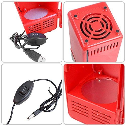 Sundlight USB Fridge, 5V USB Power Operated Portable Mini Beverage Cooler Fridge Cooler Electronic Medicine Use for Car,Office,Home by Sundlight (Image #5)