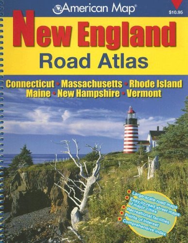 American Map New England: Road Atlas: Connecticut - Massachusetts - Rhode Island - Maine - New Hampshire - Vermont - Mall Of Map New Hampshire