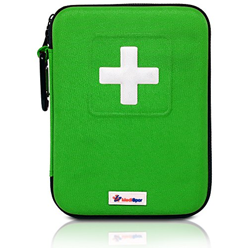 MediSpor 100-Piece First Aid Kit, Green Hard Case