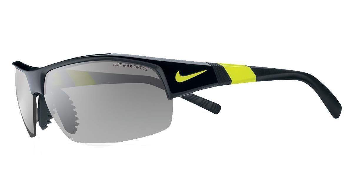 Nike Show X2 - Gafas de Sol para Hombre, Color Negro y Plateado