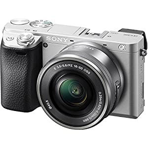 Sony Alpha A6300 4K Wi-Fi Digital Camera & 16-50mm (Silver) with 55-210mm Lens + 32GB Card + Case + Battery & Charger + Tripod + Filters + Kit by Sony