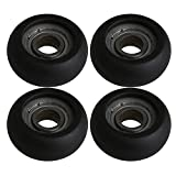 BQLZR Black 625ZZ Spherical Arc Coated Guide Pulley Soft Ball Roller Bearing Wheel for Door Window Pack of 4