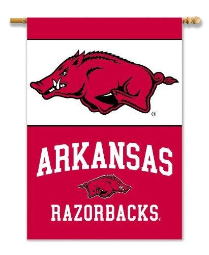 NCAA Arkansas Razorbacks 2-Sided 28-by-40 inch House Banner With Pole Sleeve ()