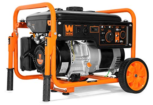 WEN 56500 5000-Watt RV-Ready 120V/240V Portable Generator with Wheel Kit, Black