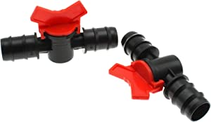 LBTODH 1 Inch(25mm) Barbed Ball Valve 2pcs Shut Off Switch Hose Barb Valve for Garden Drip Irrigation Aquarium Hose Tube