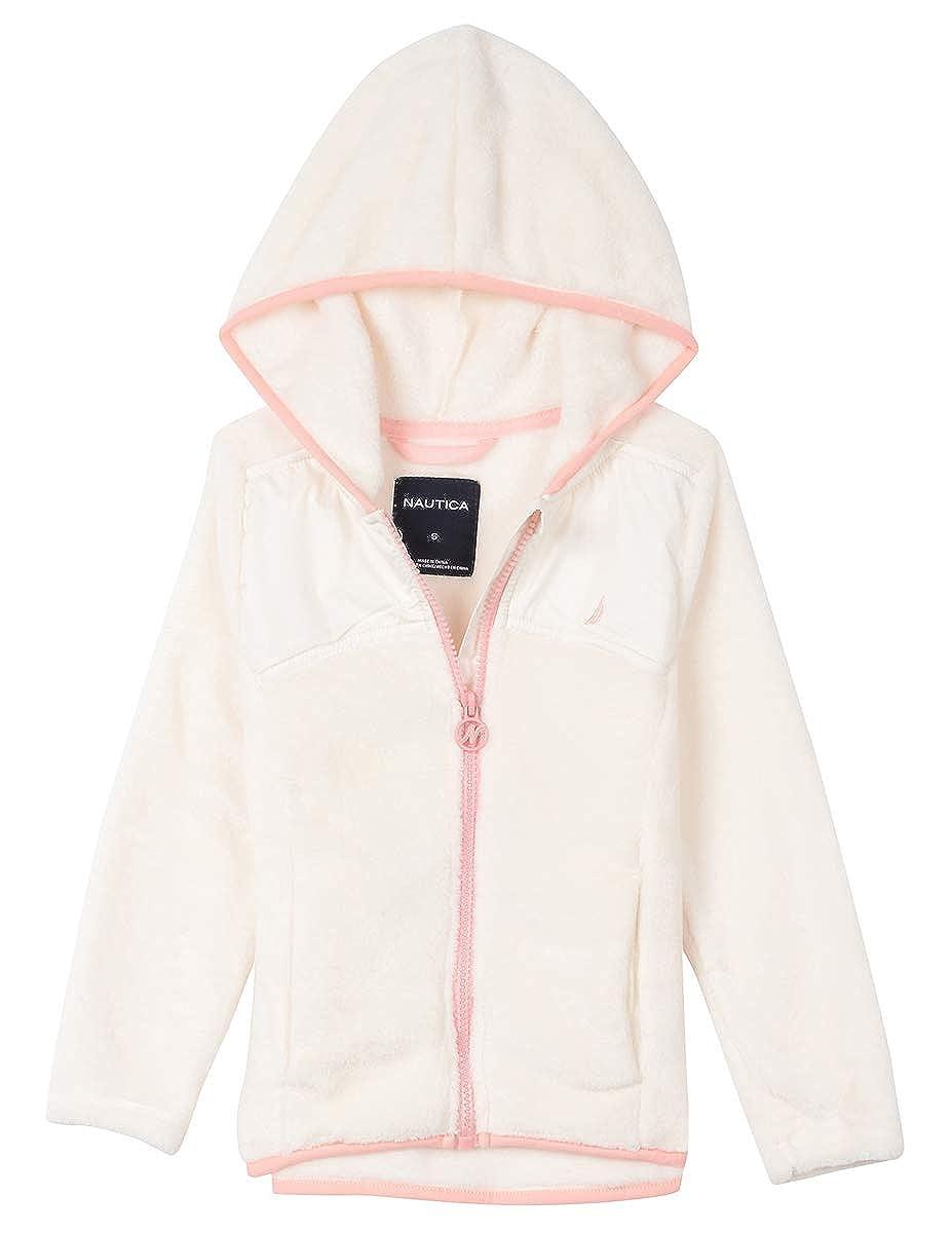 4T Cream Nautica Girls Toddler Chipie Faux Fur Light Jacket with Yoke