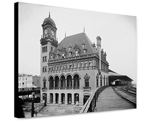 Canvas Print 12x15: C. And O. Ry. Station, Richmond, Va., circa - Va Glasses Richmond
