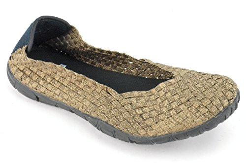 Elastic Womens Shoes - Corkys Sidewalk Women's Slip On (Bronze, 9 B(M) US)