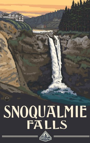 Northwest Art Mall Washington Snoqualmie Falls Artwork by Paul A Lanquist, 11-Inch by - Mall Snoqualmie