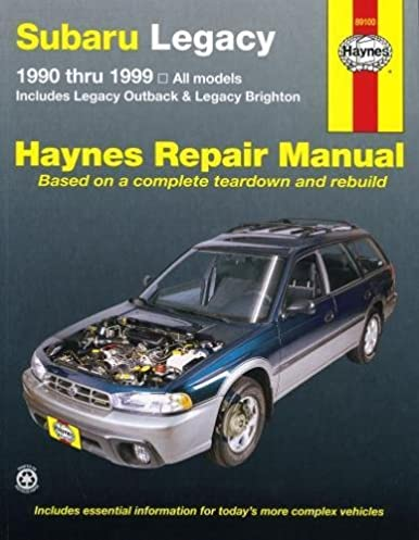 subaru legacy 90 thru 99 haynes repair manual haynes rh amazon com 1993 subaru legacy service manual 1993 subaru legacy repair manual pdf