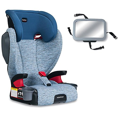 Britax Highpoint Belt-Positioning Booster Seat with Backseat Mirror – Seaglass