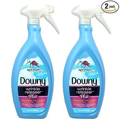 Downy Wrinkle Releaser Plus, Light Fresh Scent, 33.8 Fluid Ounce (Pack of 2)