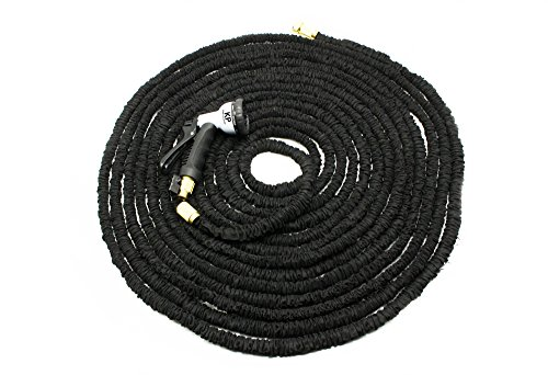 Durable Garden Hose | 150 Feet Expandable Design With Double Thick Latex | Stainless Steel Ends & Hose Spray Nozzle | Collapsible No Kink & Tangle Water Hose | For Garden, Windows, Cars, Boats & More