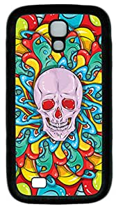 Skull Psychedelic Seamless Pattern TPU Black Case for Samsung Galaxy S4 by April's House
